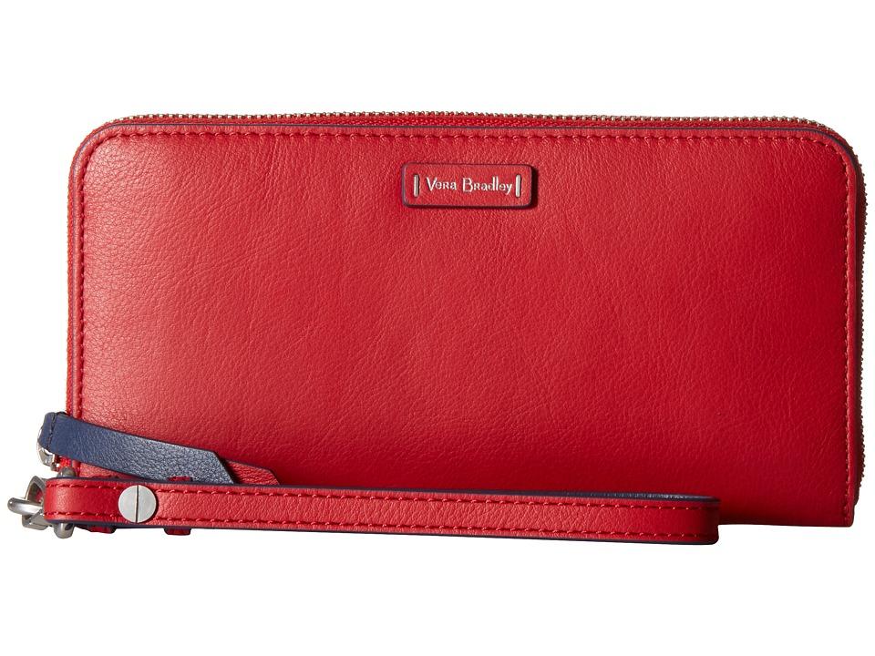 Vera Bradley - Gallatin RFID Accordion Wristlet (Cardinal Red) Wristlet Handbags