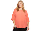 Vince Camuto Specialty Size Plus Size Elbow Sleeve Center Front Seam Blouse