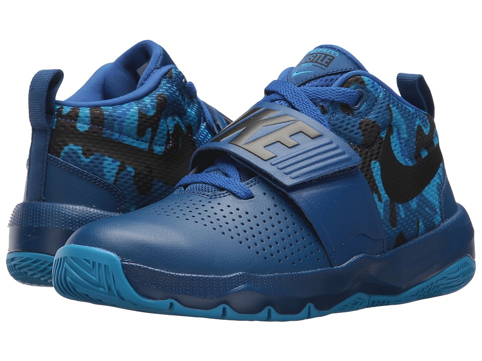 Nike Kids Hustle D 8 Camo (Big Kid) (Gym Blue/Black/Photo Blue/Game Royal) Boys Shoes