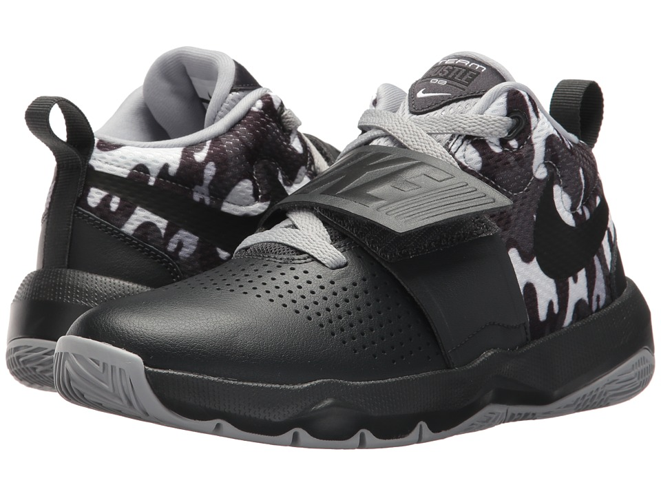 Nike Kids Hustle D 8 Camo (Big Kid) (Anthracite/Black/White/Wolf Grey) Boys Shoes