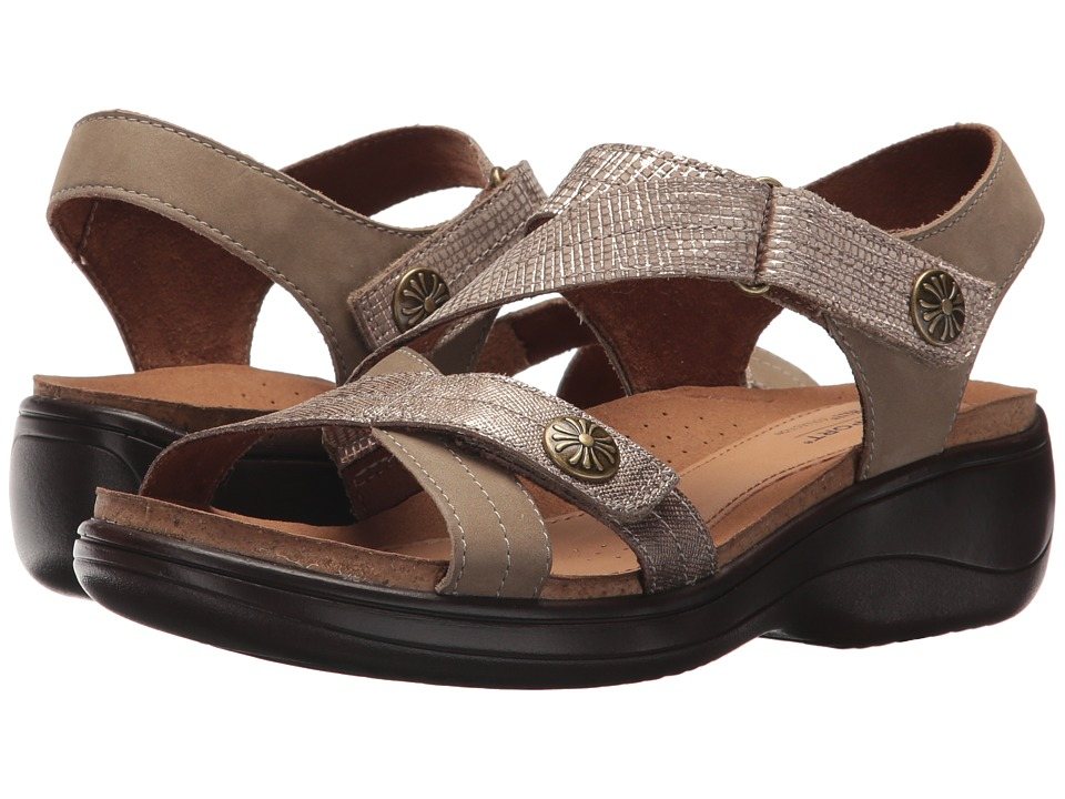 Rockport Cobb Hill Collection - Cobb Hill Maisy Cross Band (Light Khaki Multi) Womens  Shoes