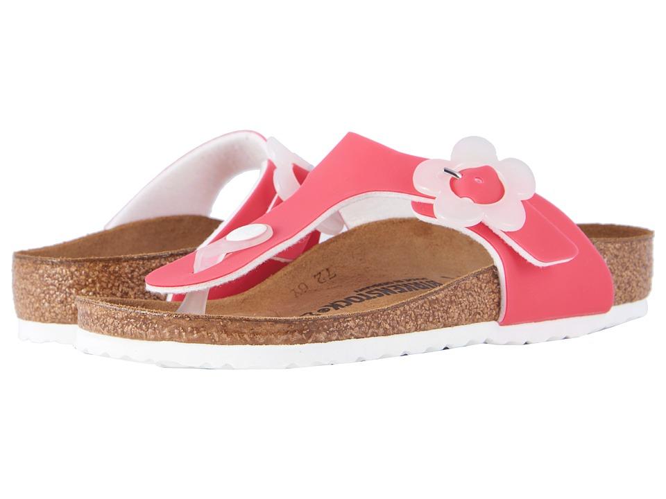 Birkenstock Kids - Gizeh (Little Kid/Big Kid) (Candy Pink Birko-Flor) Girls Shoes