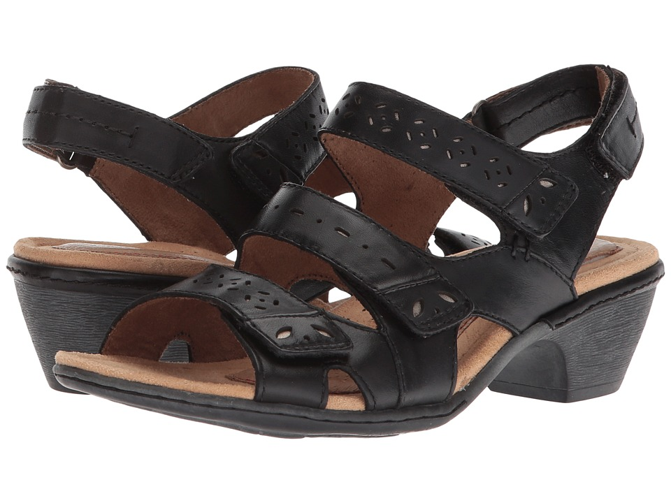 Rockport Cobb Hill Collection - Cobb Hill Verona 3 Strap (Black) Womens  Shoes
