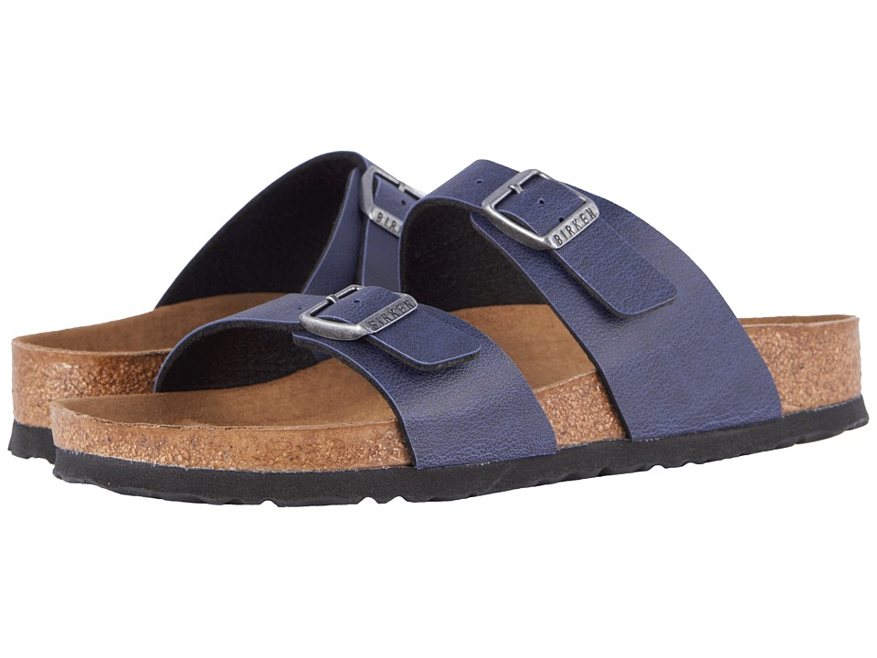 Birkenstock - Sydney Vegan (Navy Pull Up Birko-Flortm) Women's Sandals
