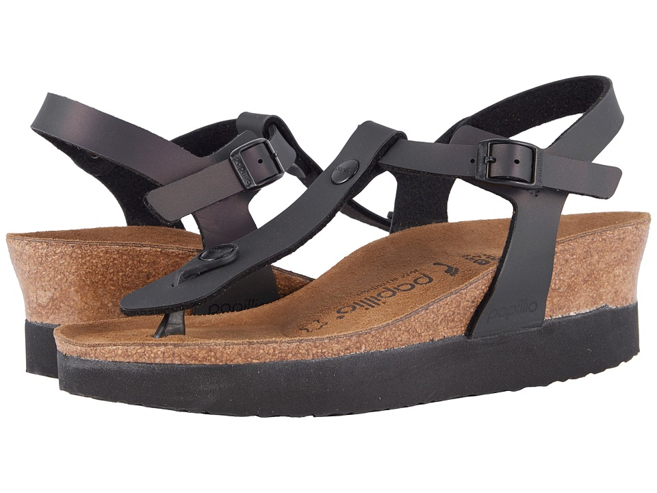 Birkenstock - Ashley Platform (Iridescent Black Birko-Flortm) Women's Sandals