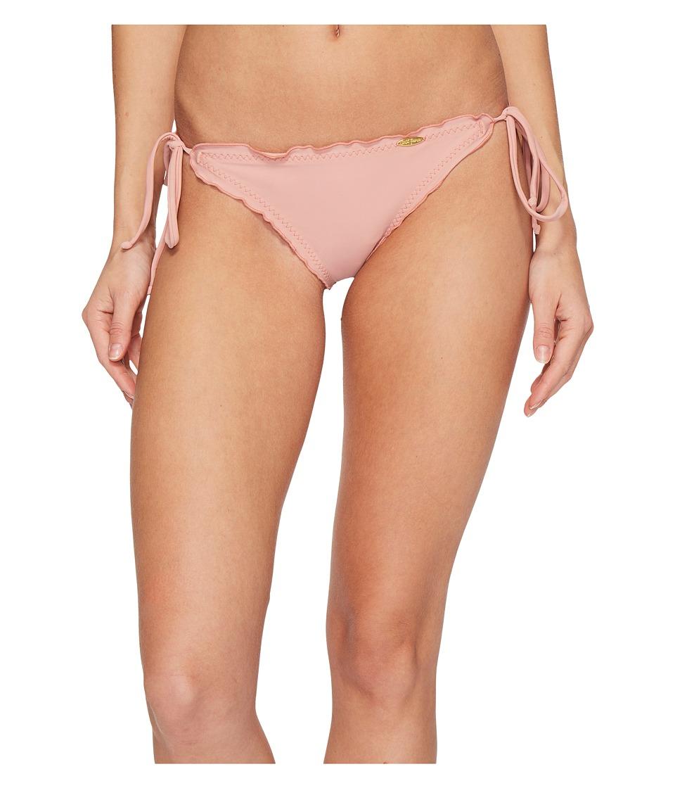 Luli Fama Cosita Buena Wavey Brazilian Tie Side Ruched Back Bikini Bottom (Rosa) Women