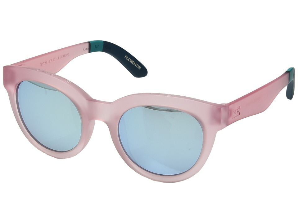 Zuma Traveler By TOMS Aqua Mat Sunglasses with Pink Mirror Lens mUECqS