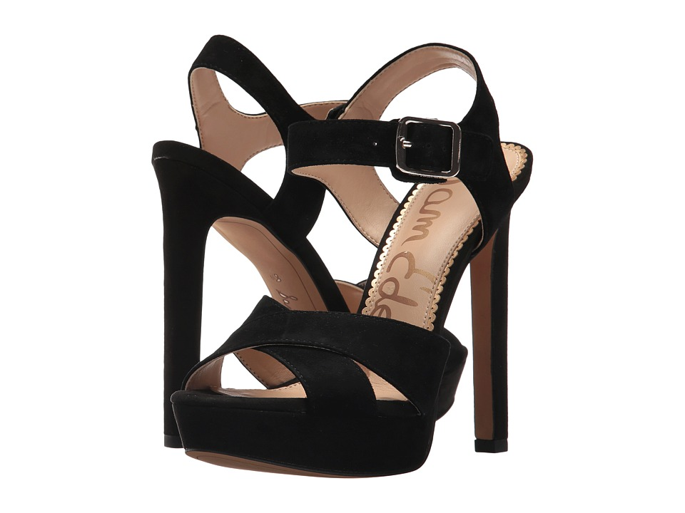 Sam Edelman - Willa (Black Kid Suede Leather) High Heels