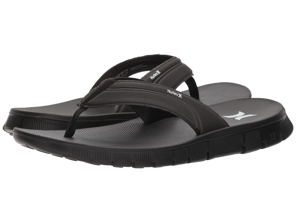 Hurley - Fusion 2.0 Sandal (Black) Men's Sandals