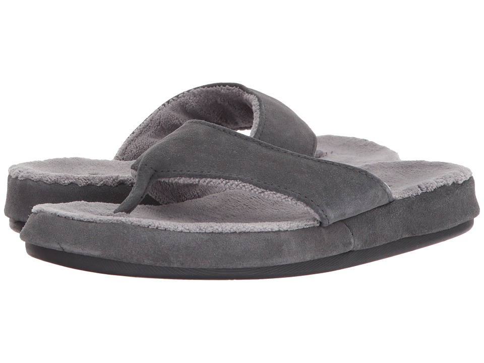 Acorn - Suede Spa Thong (Ash) Women's Sandals