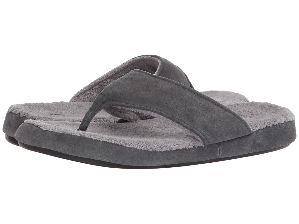 Acorn - Suede Spa Thong (Ash) Men's Sandals