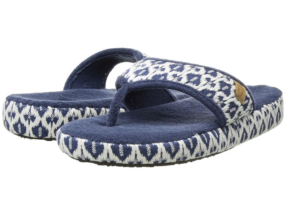 Acorn Thong Summerweight (Navy Tribal) Slippers
