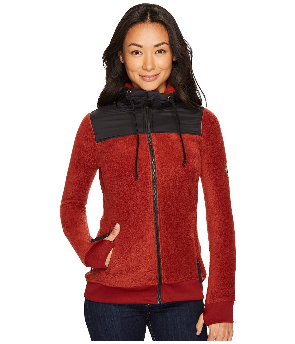 686 Flo Polar Zip Fleece Hoodie (Rusty Red) Women