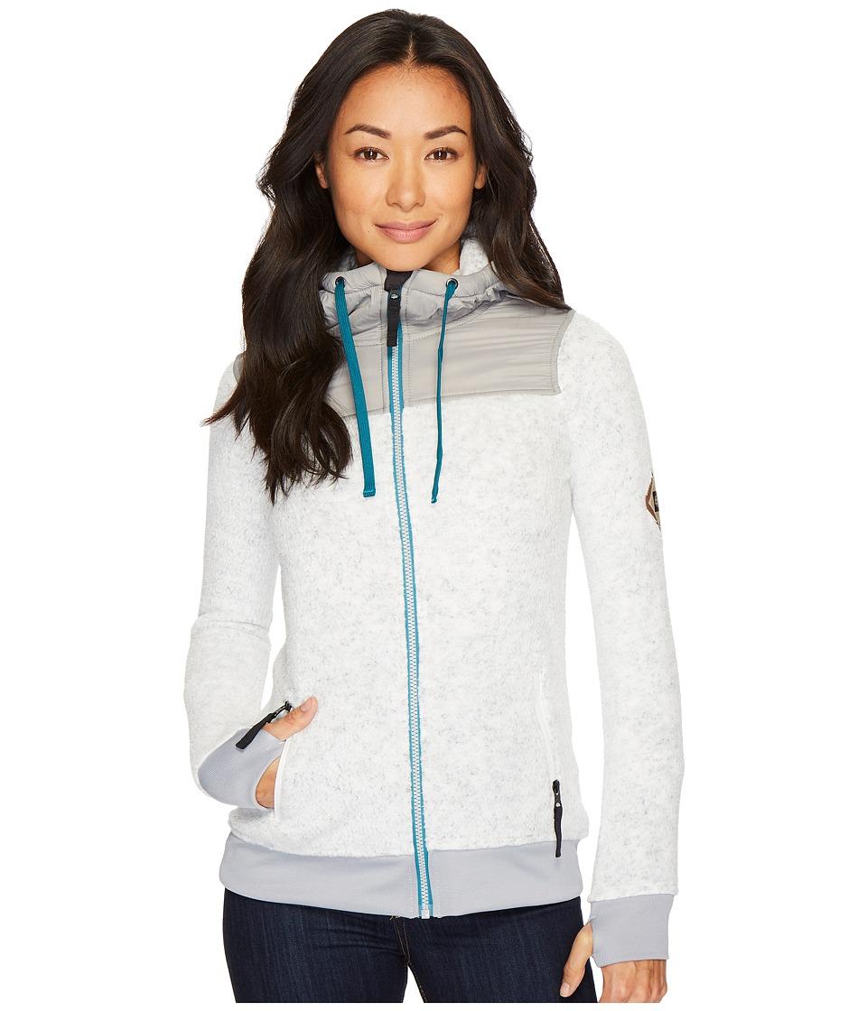686 Flo Polar Zip Fleece Hoodie (White) Women