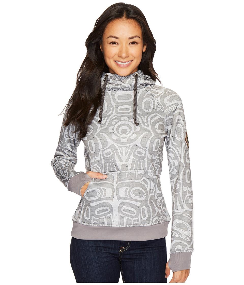 686 Cora Bonded Fleece Pullover (Grey Totem Print) Women