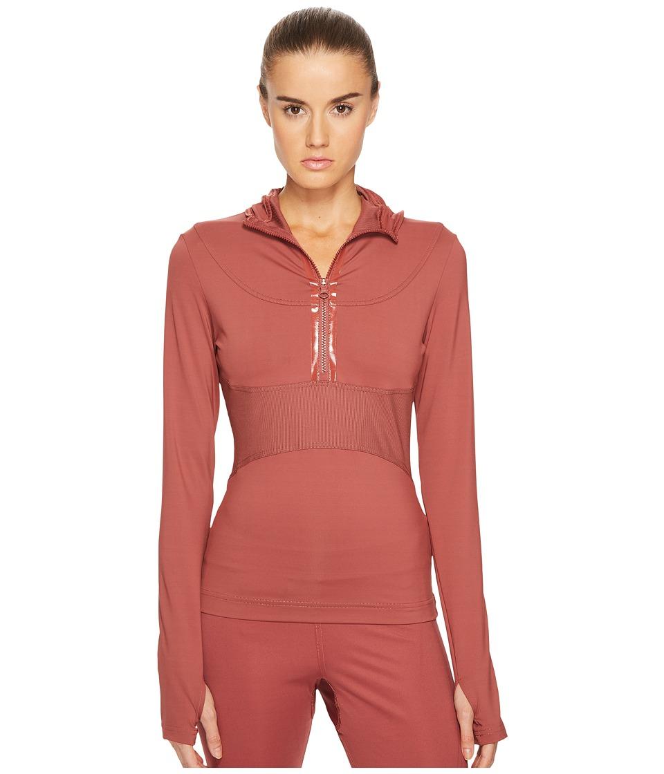 adidas by Stella McCartney Run Hooded Long Sleeve BQ8841 (Clay Red SMC) Women
