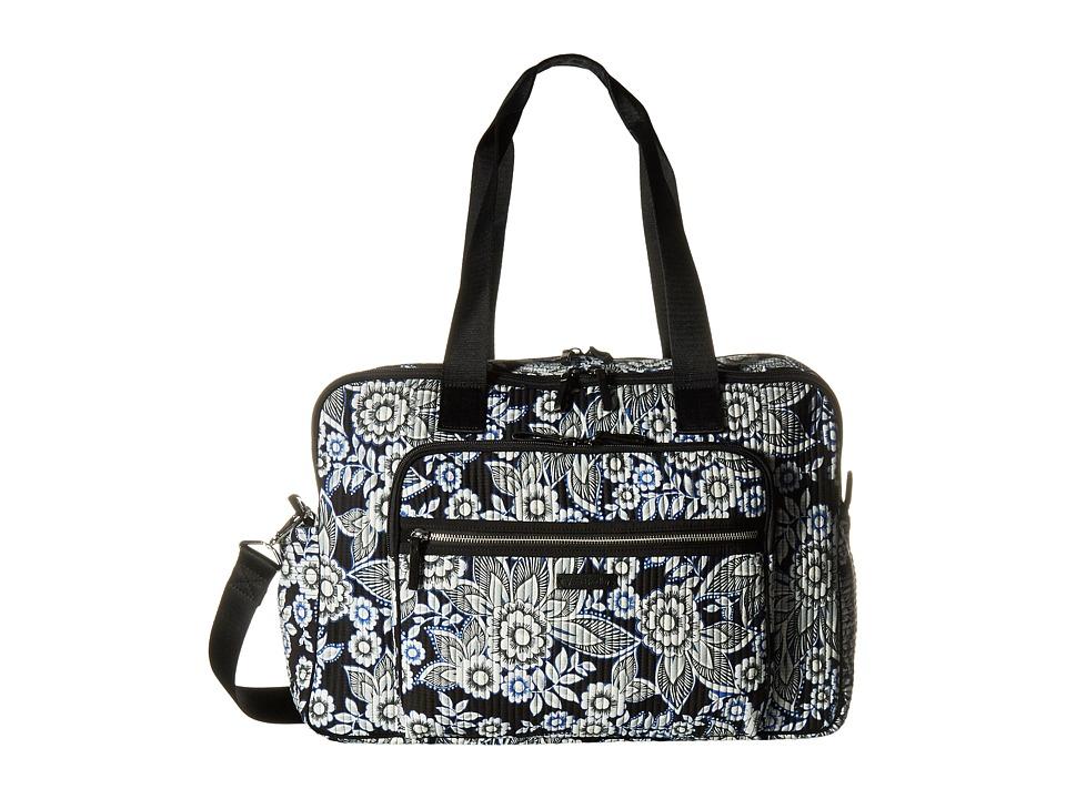 Vera Bradley - Iconic Deluxe Weekender Travel Bag (Snow Lotus) Bags