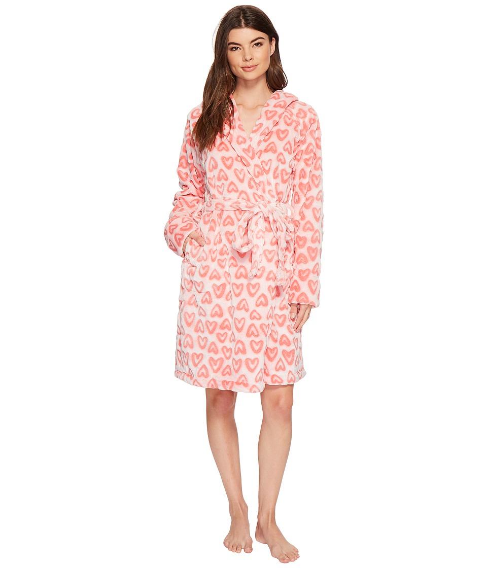 Vera Bradley - Fleece Robe (Hearts Pink) Womens Robe