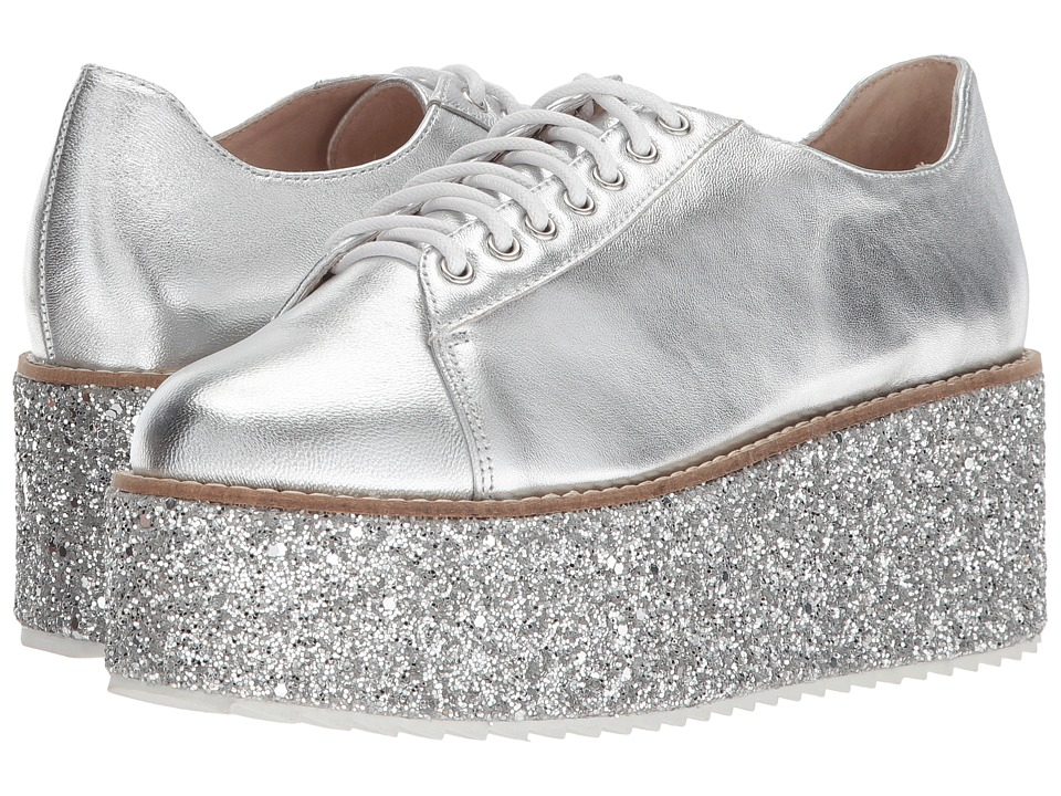 Shellys London - Honolulu (Silver) Womens Lace up casual Shoes
