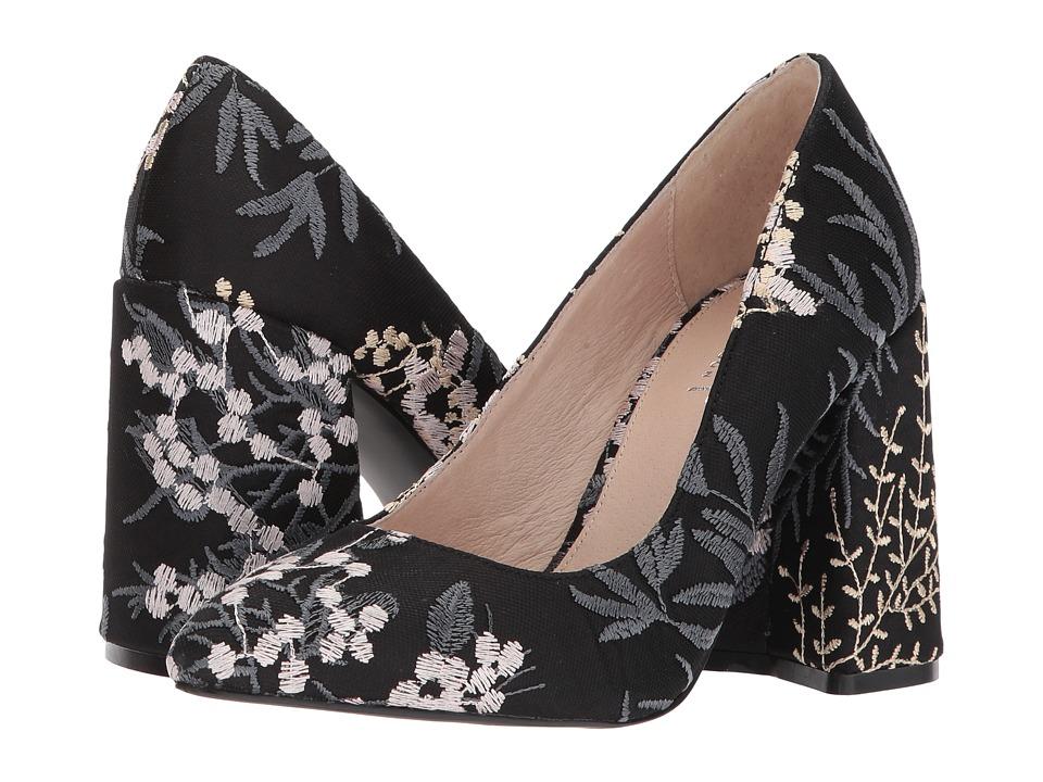 Shellys London Hester (Black Floral) High Heels