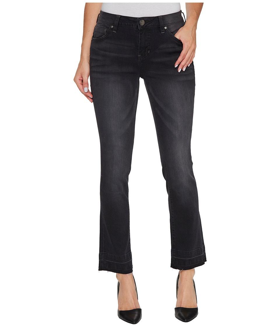 Jag Jeans Haven Ankle Flare Pants in Black/Undone Hem (Black/Undone Hem) Women
