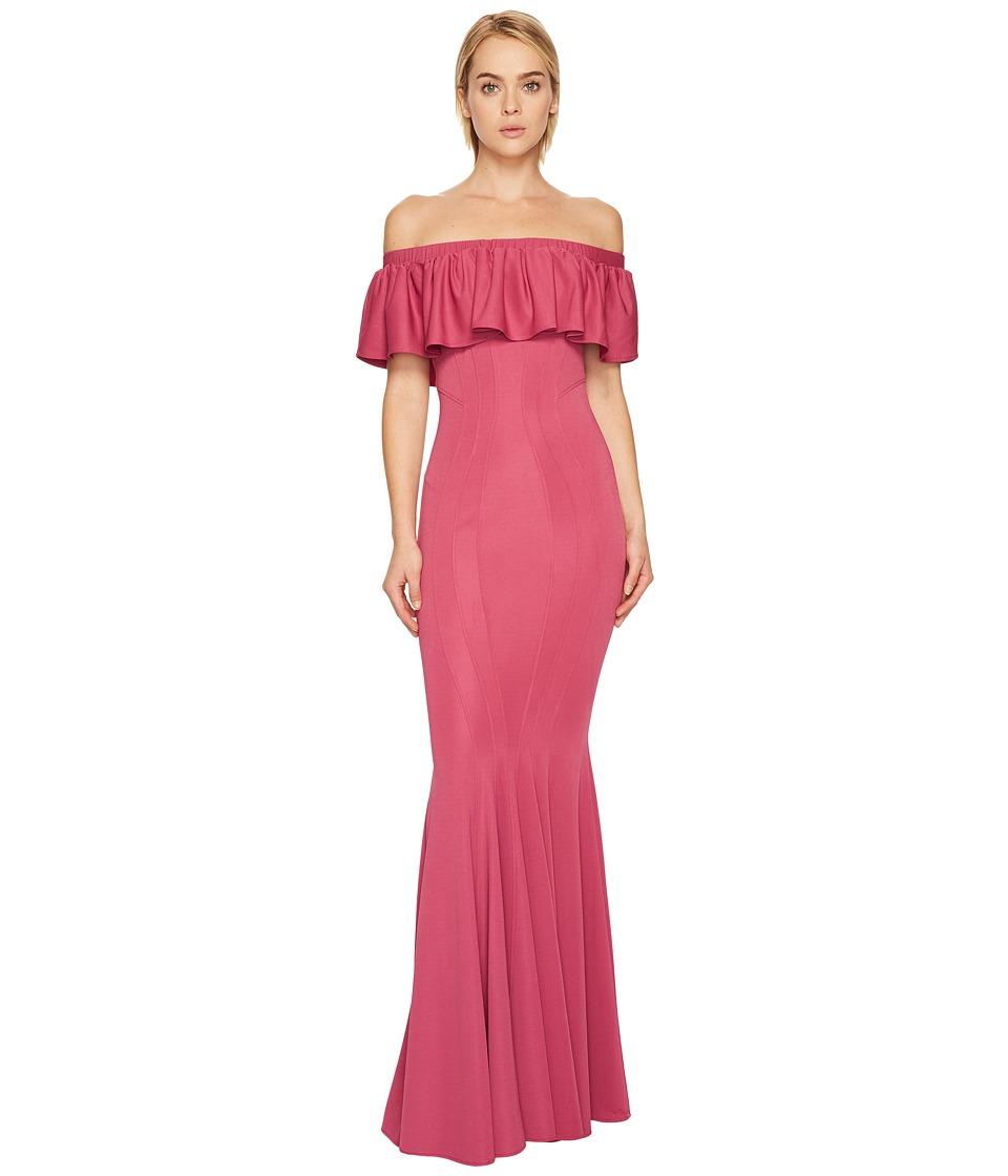ZAC Zac Posen Crystal Gown (Camellia) Women