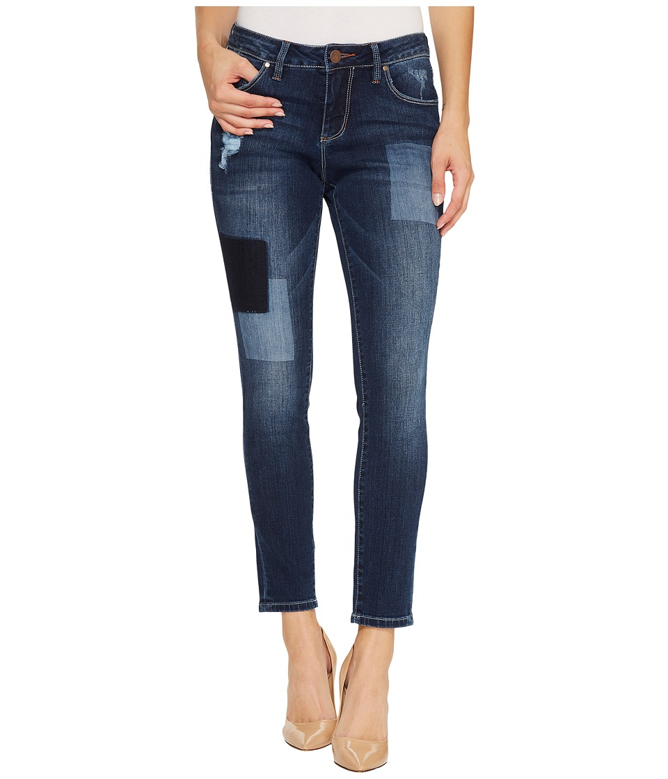 Jag Jeans Mera Skinny Ankle Platinum Denim in Bucket Blue/Laser Patching (Bucket Blue/Laser Patching) Women