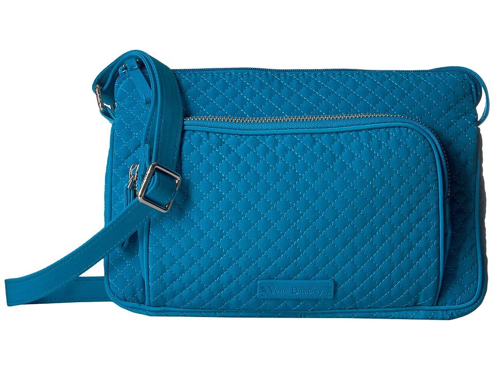 Vera Bradley Iconic RFID Little Hipster (Bahama Bay) Handbags