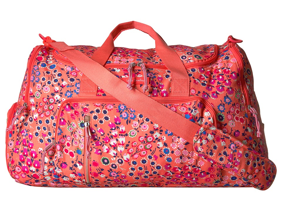 Vera Bradley Lighten Up Ultimate Gym Bag (Coral Meadow) Bags