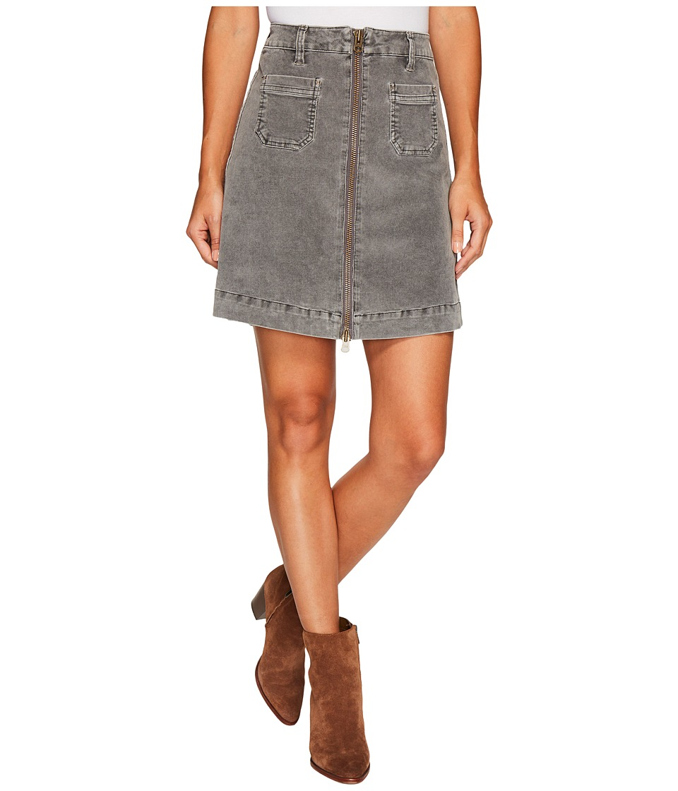 Jag Jeans McCamey Zip Front Skirt in Refined Corduroy (Ch...
