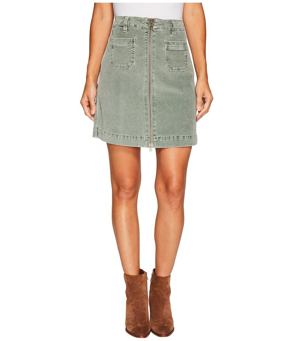 Jag Jeans McCamey Zip Front Skirt in Refined Corduroy (Li...