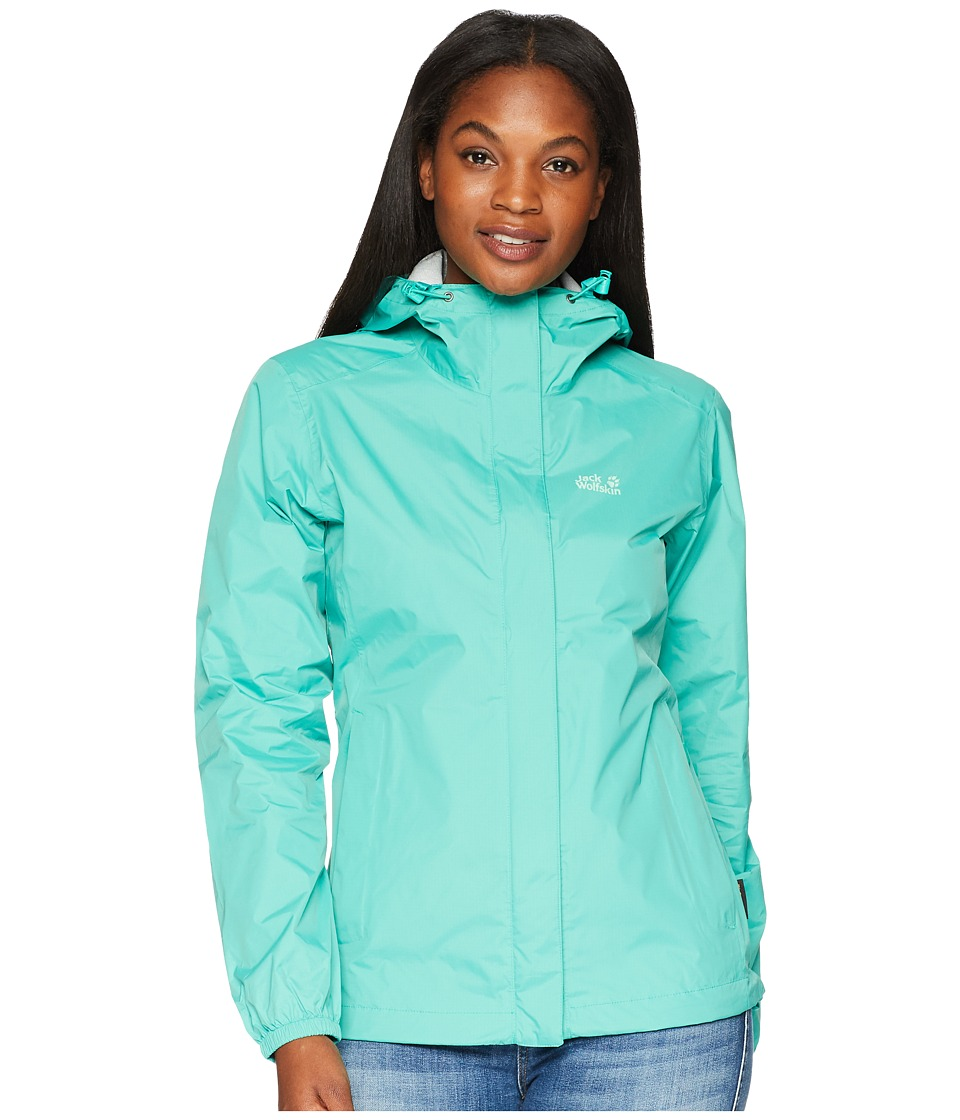Jack Wolfskin - Cloudburst Jacket (Deep Mint) Womens Coat