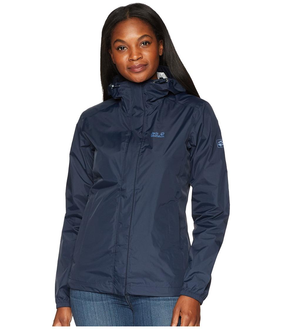 Jack Wolfskin Cloudburst Jacket (Midnight Blue) Women