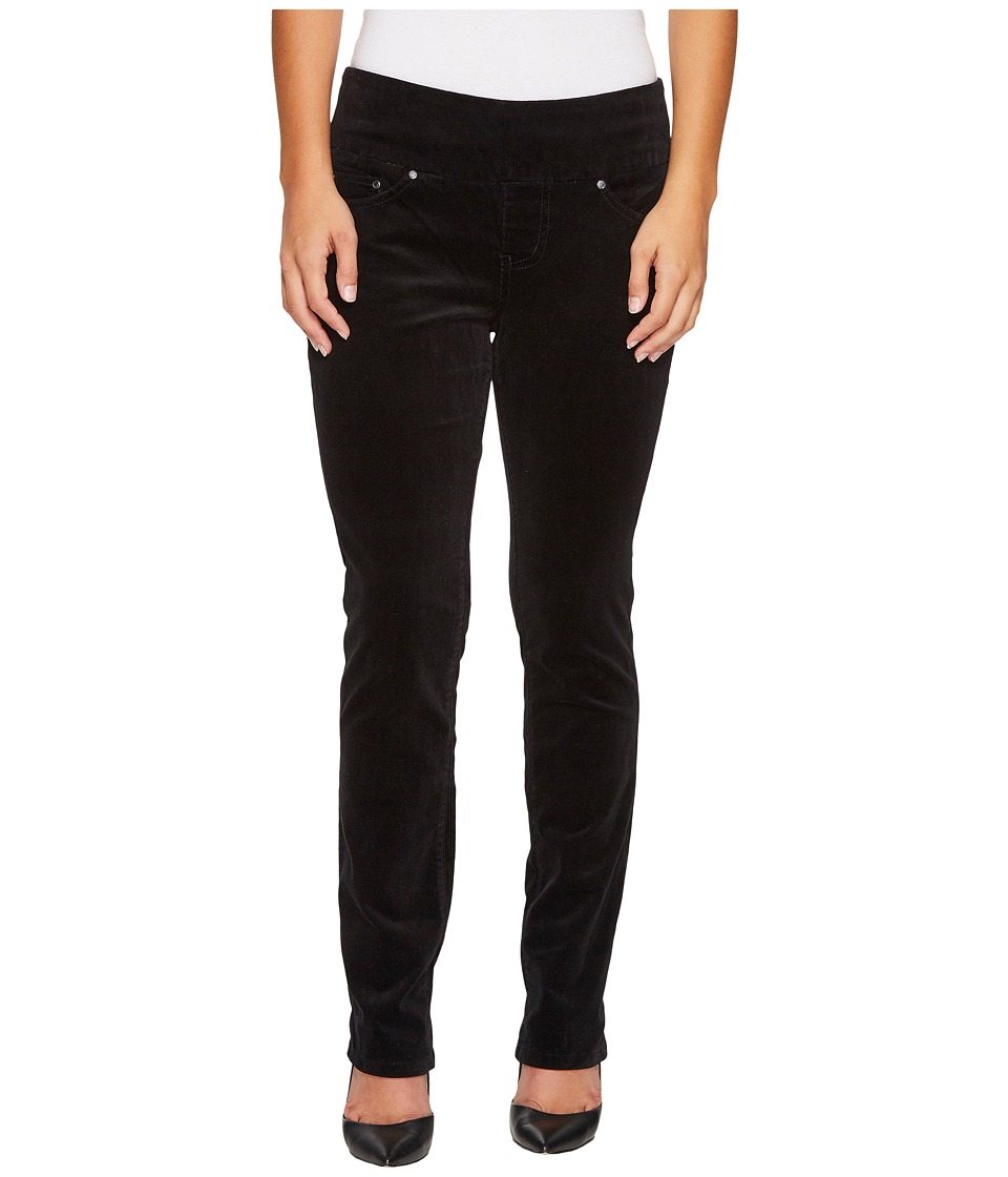 Jag Jeans Petite Petite Peri Pull-On Straight in Refined Corduroy (Black) Women