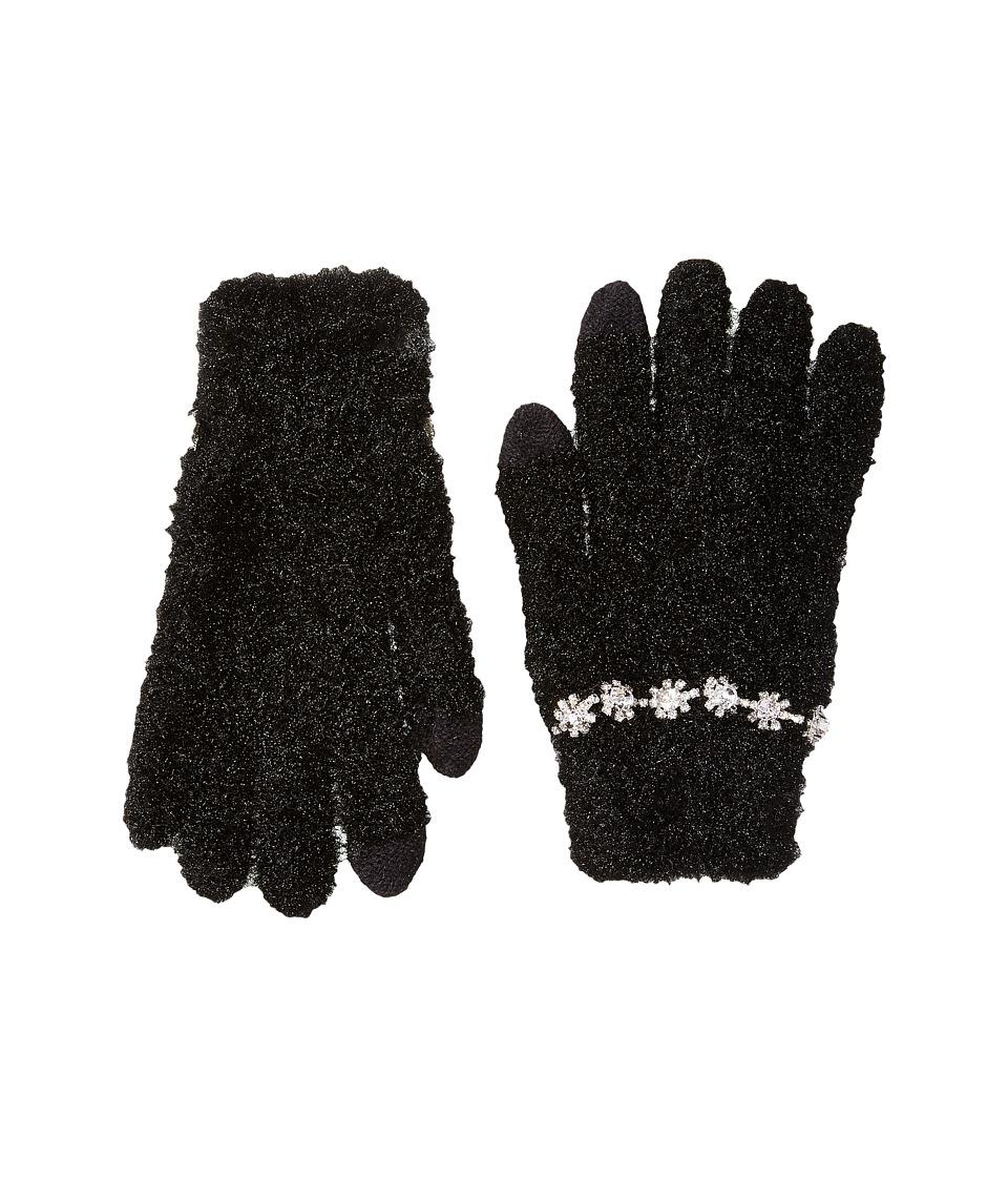 Betsey Johnson Charm Bracelet Etouch Gloves (Black) Dress Gloves
