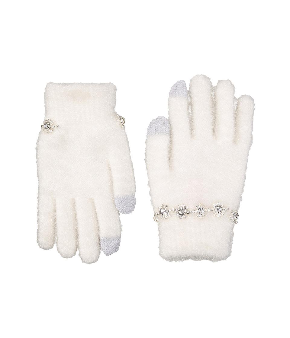 Betsey Johnson Charm Bracelet Etouch Gloves (Ivory) Dress Gloves