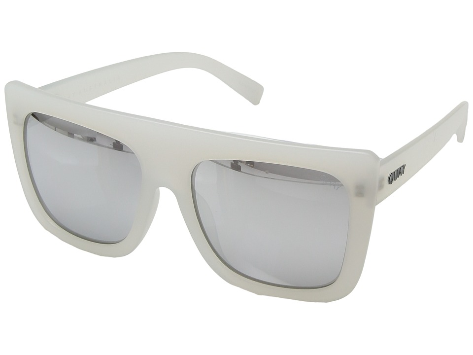 QUAY AUSTRALIA Cafe Racer (White/Silver) Fashion Sunglasses