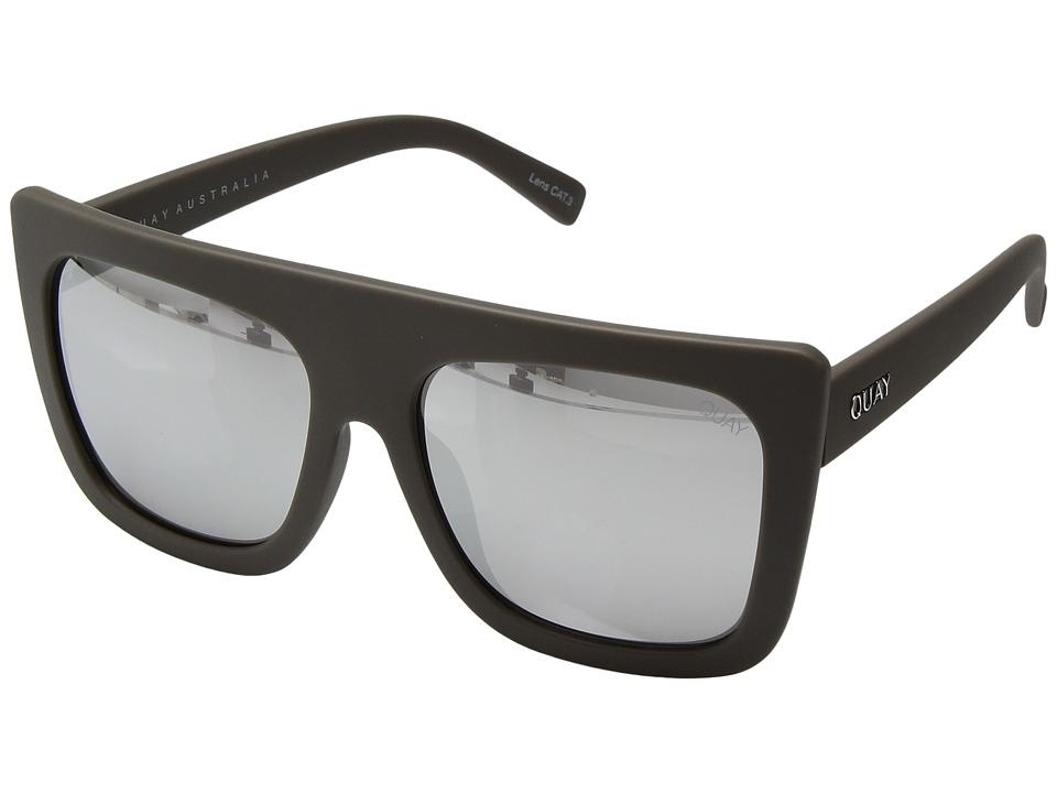QUAY AUSTRALIA Cafe Racer (Grey/Silver) Fashion Sunglasses
