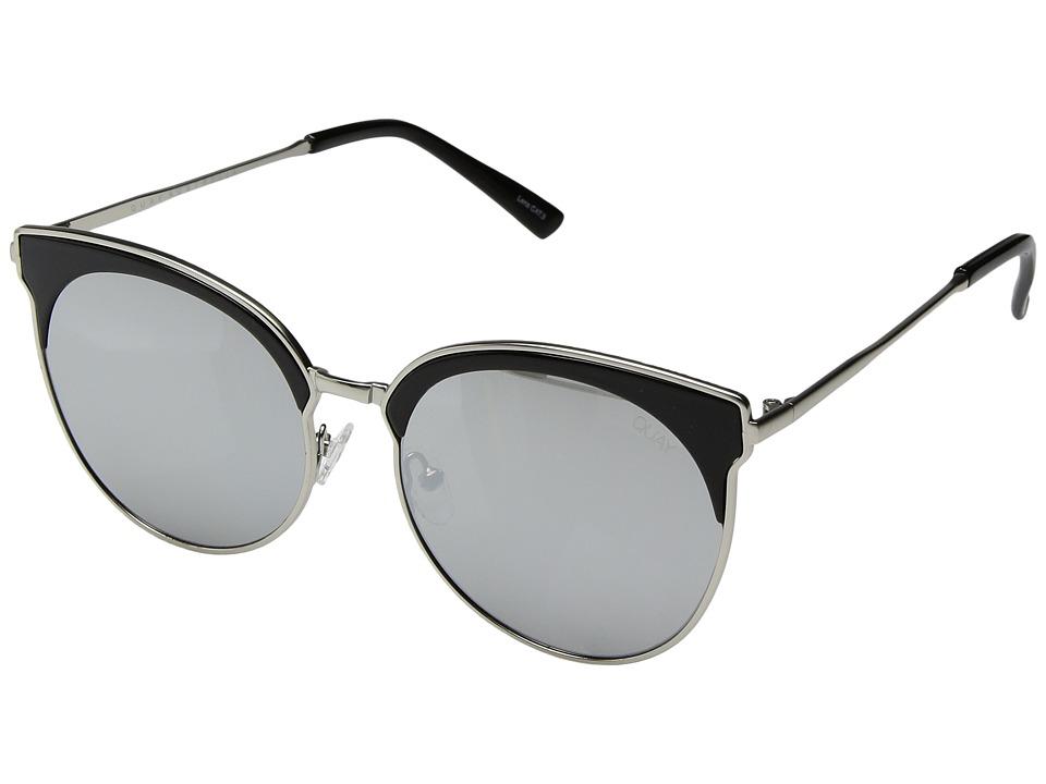 QUAY AUSTRALIA Mia Bella (Black/Silver) Fashion Sunglasses