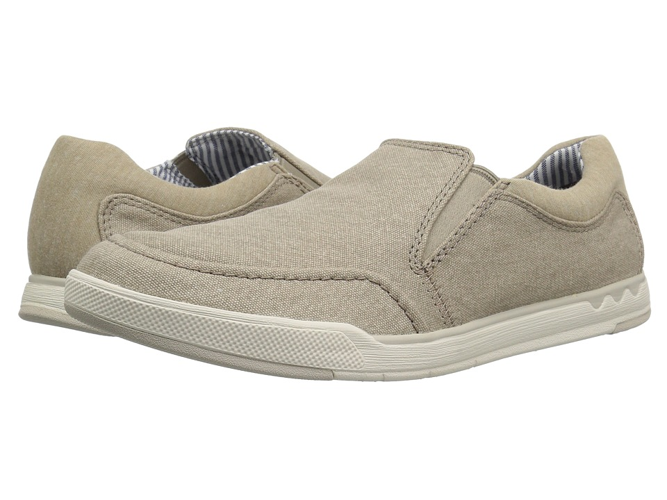 Clarks - Step Isle Slip (Sand Canvas) Mens Shoes