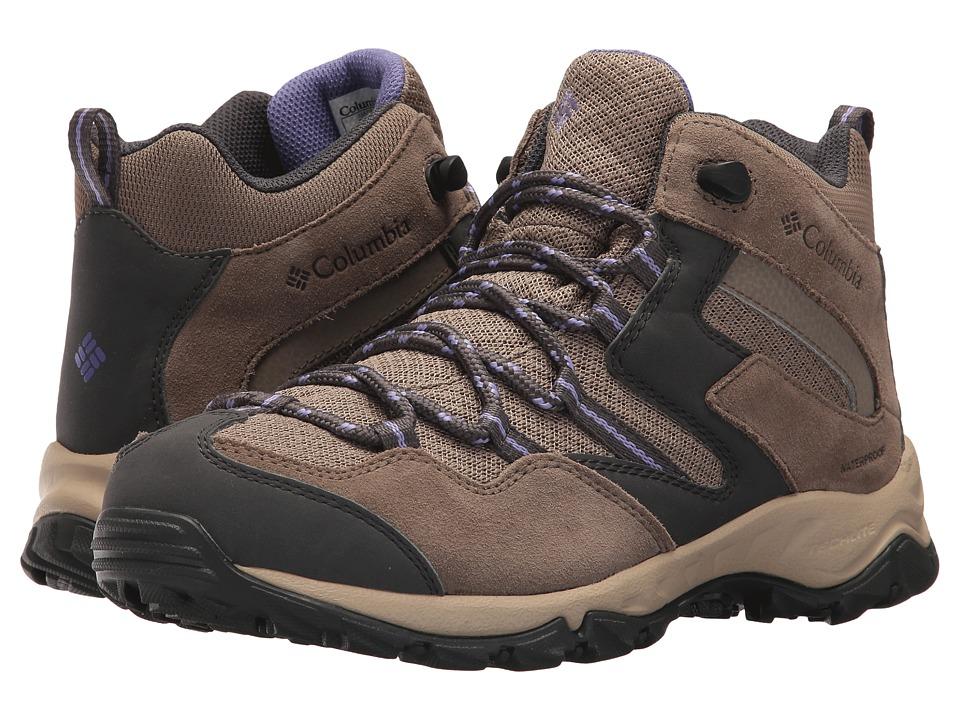 Columbia Maiden Peaktm Mid Waterproof (Wet Sand/Purple Aster) Women's Shoes