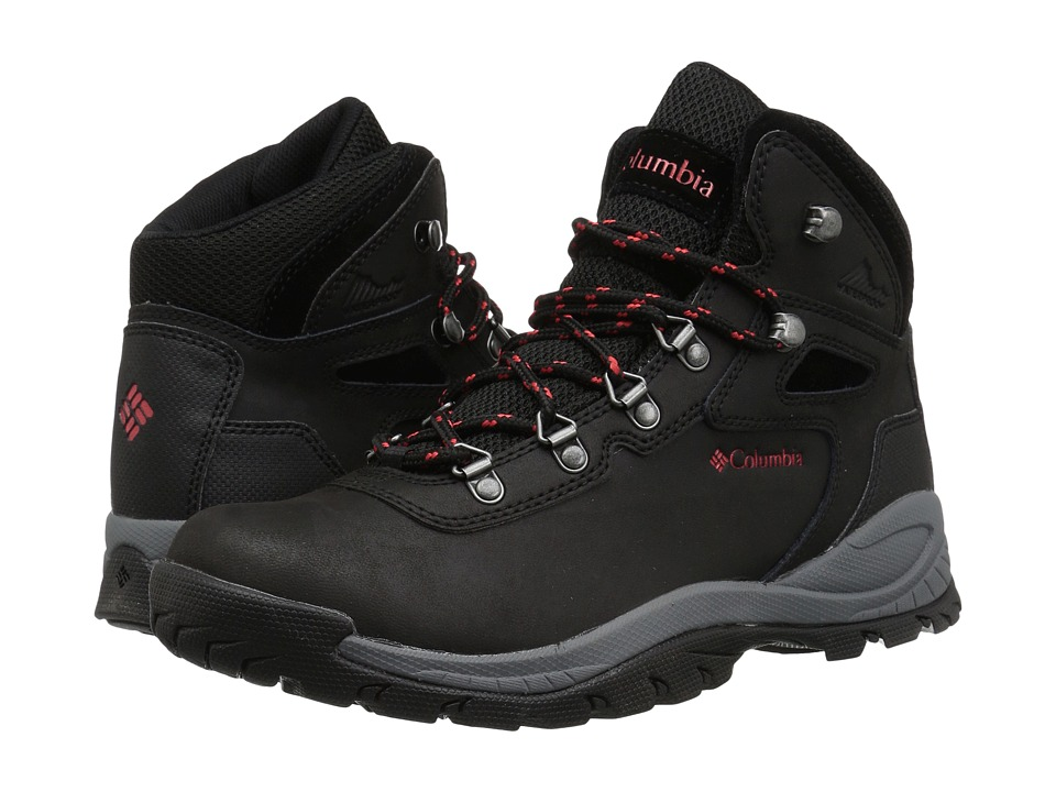 Columbia Newton Ridge Plus (Black/Poppy Red) Women's Hiking Boots