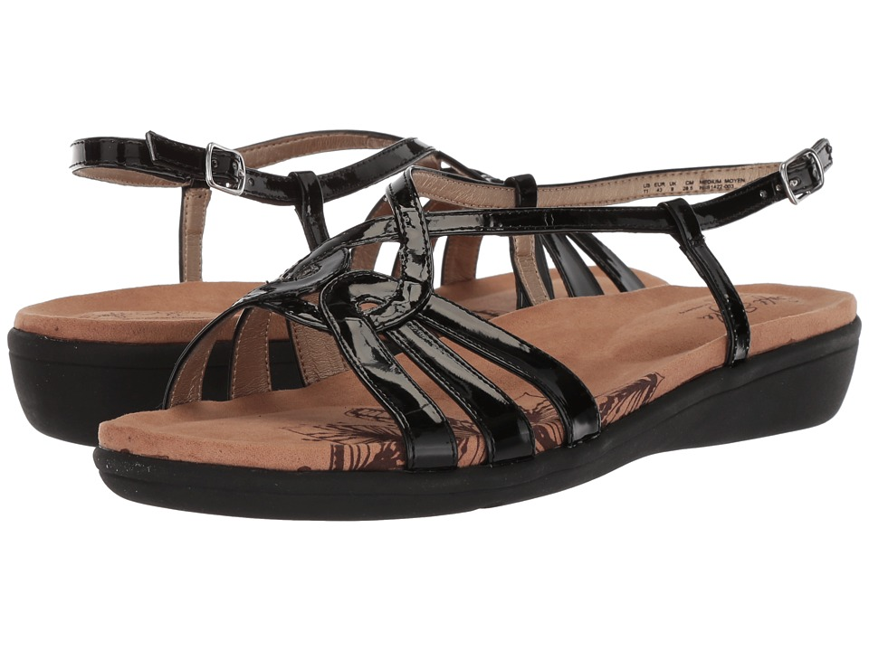 Soft Style Patrese (Black Patent) Sandals