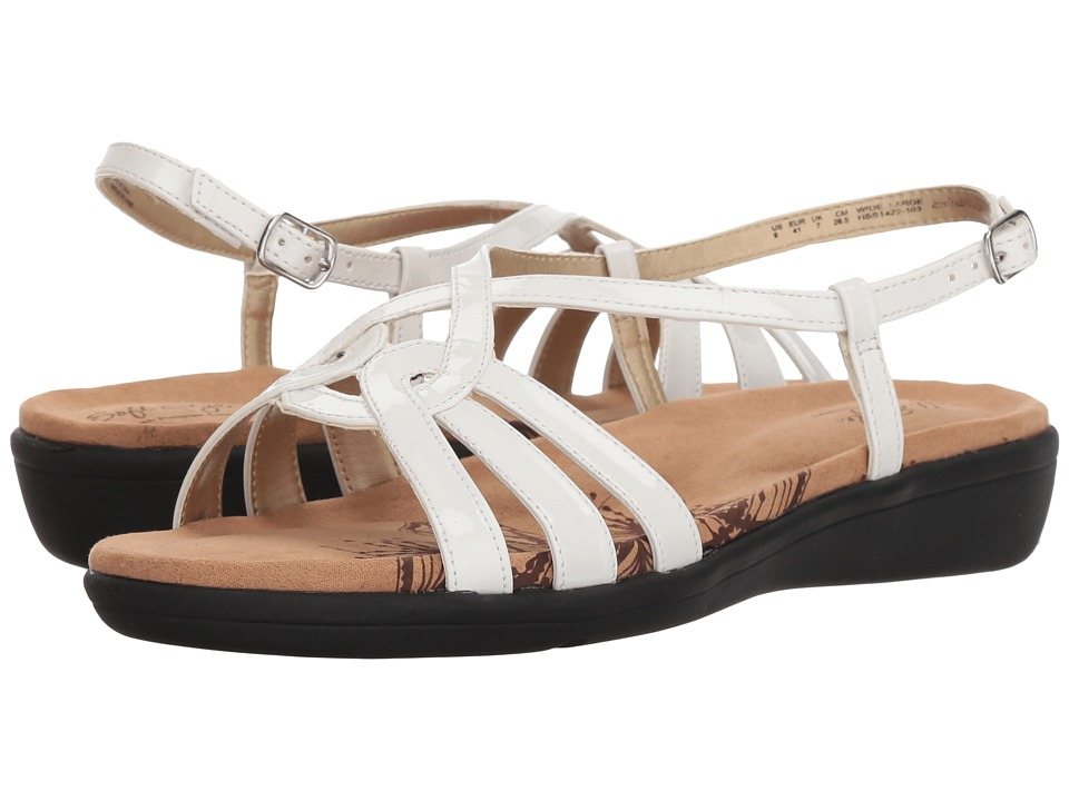 Soft Style Patrese (White Patent) Sandals