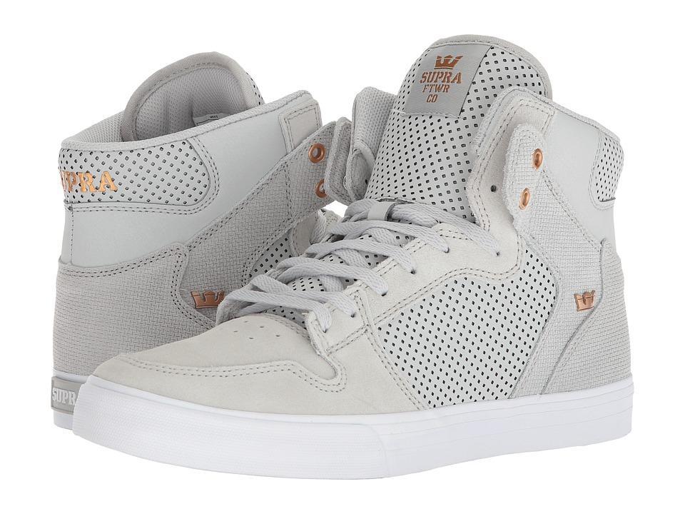 Supra Vaider (Cool Grey/Copper/White) Skate Shoes