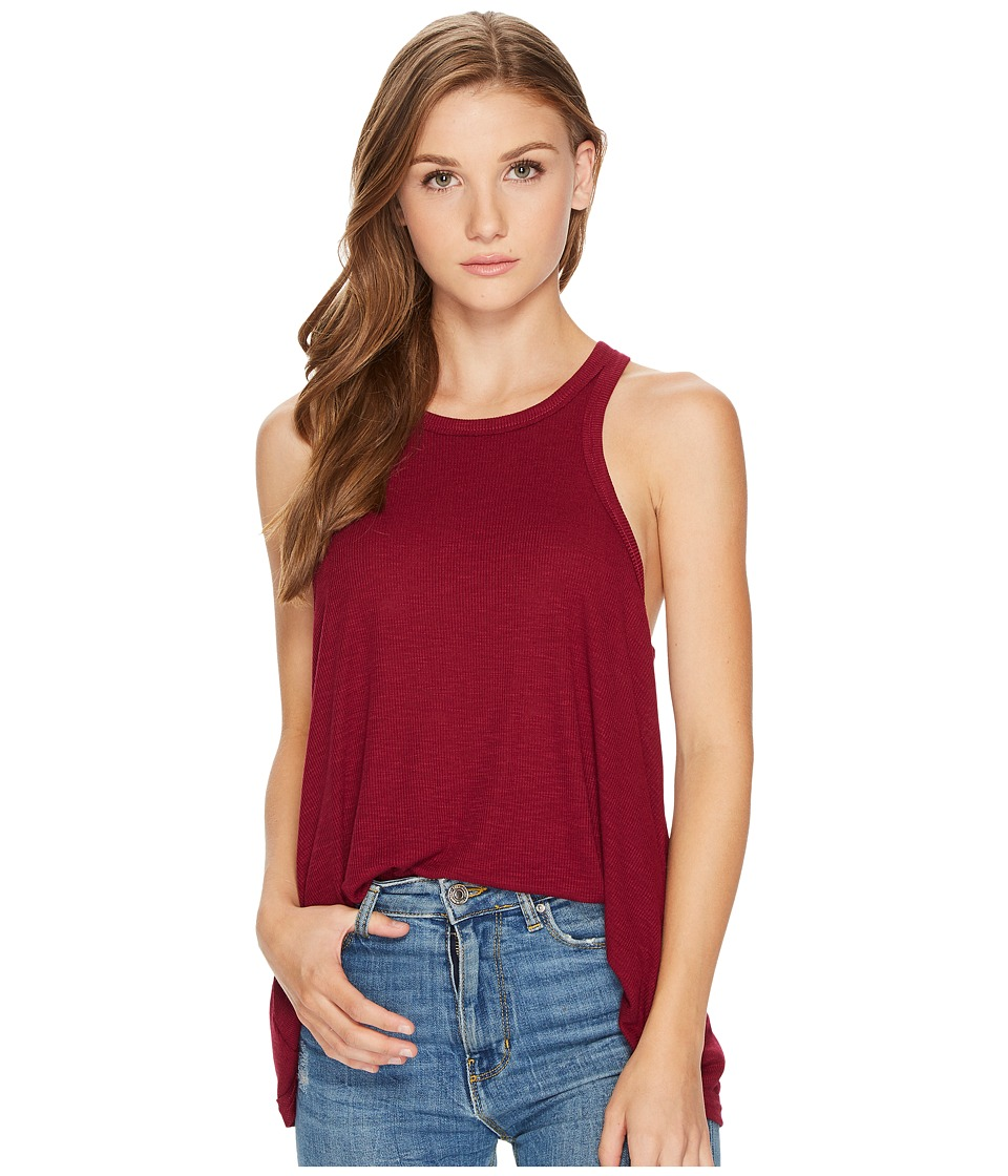Free People Long Beach Tank Top (Wine) Women