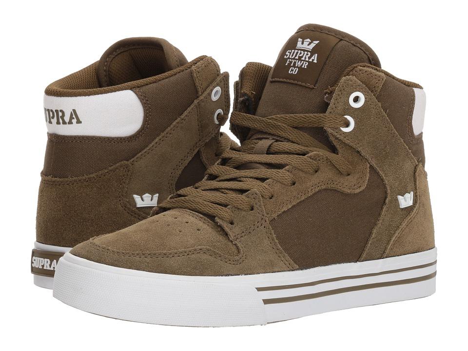 Supra Vaider (Olive/White 1) Skate Shoes