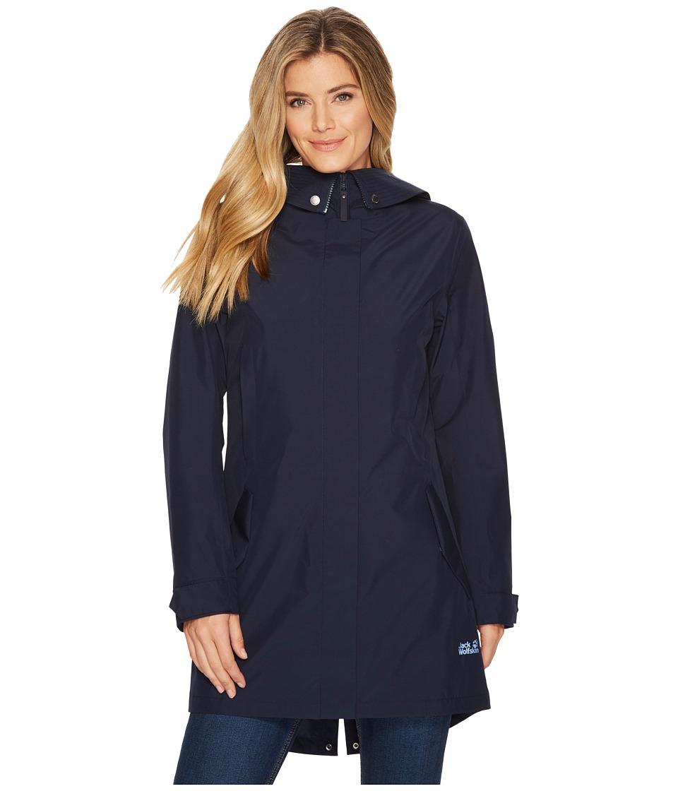 Jack Wolfskin Monterey Coat (Midnight Blue) Women