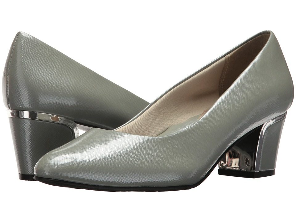 Soft Style Deanna (Wrought Iron Crosshatch Patent/Silver Heel) 1-2 inch heel Shoes