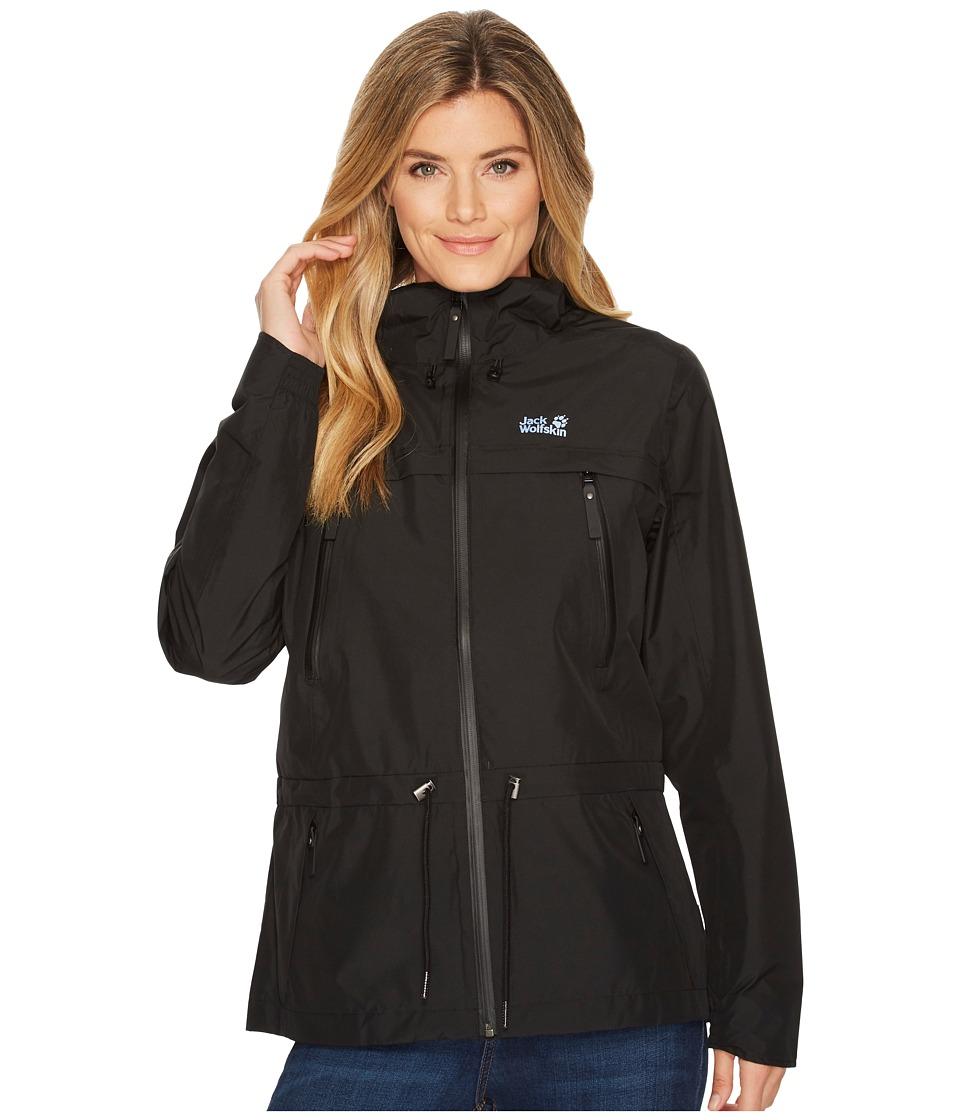 Jack Wolfskin - Fairview Jacket (Black) Womens Coat